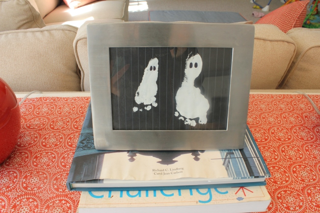 halloween art craft baby footprint