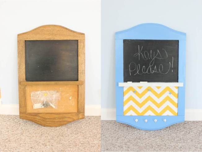 Key holder chalkboard message center